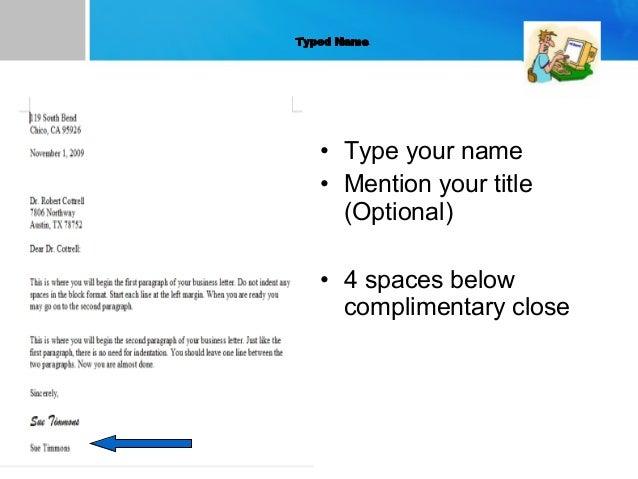 letter formats for business