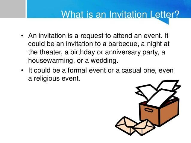 30 a sample informal invitation letter