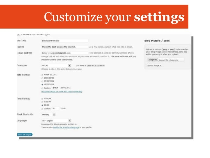 Customize your  settings