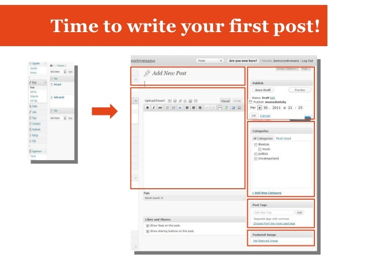 Time to write your first post!