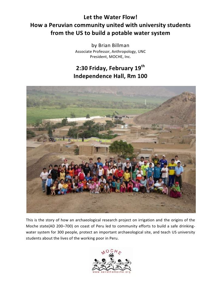 Let the Water Flow!<br />How a Peruvian community united with university students from the US to build a potable water sys...