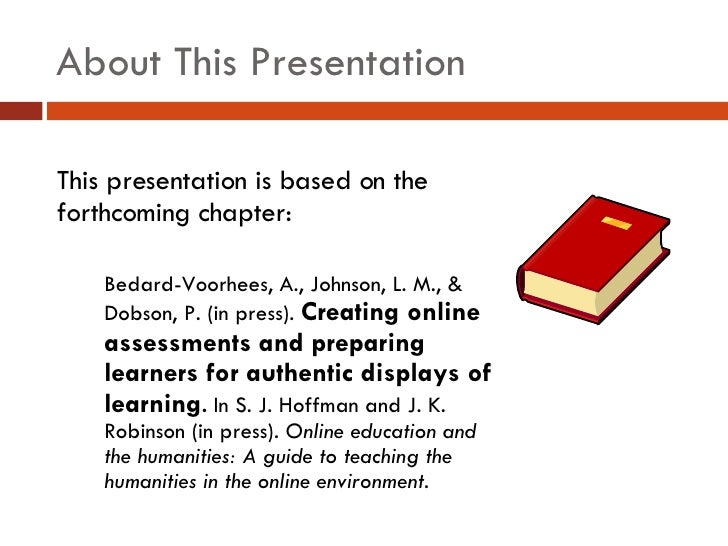 Letting Them Show What They Know: Tech Tools for Assessment Slide 2