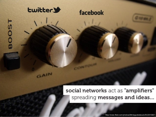"""http://www.flickr.com/photos/28misguidedsouls/5522310921 spreading messages and ideas... social networks act as """"amplifiers"""""""