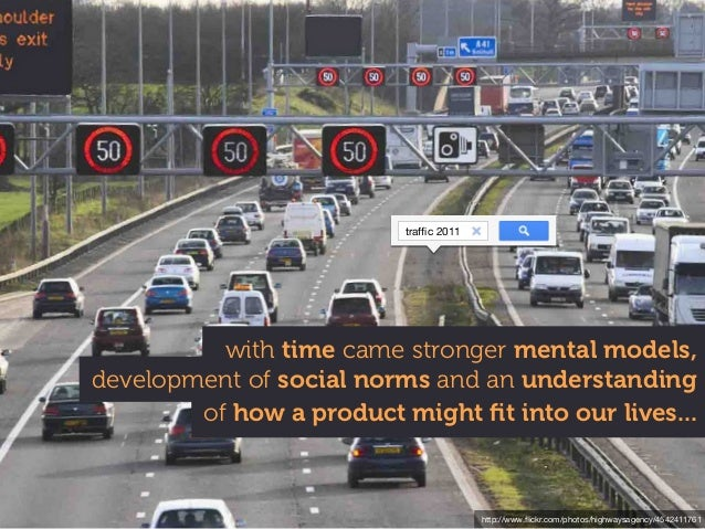 http://www.flickr.com/photos/highwaysagency/4542411761 of how a product might fit into our lives... development of social no...