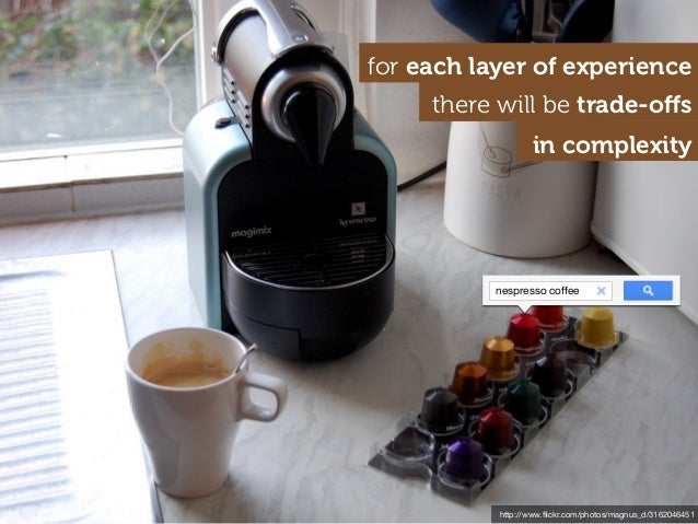 http://www.flickr.com/photos/magnus_d/3162046451 nespresso coffee for each layer of experience there will be trade-offs in c...