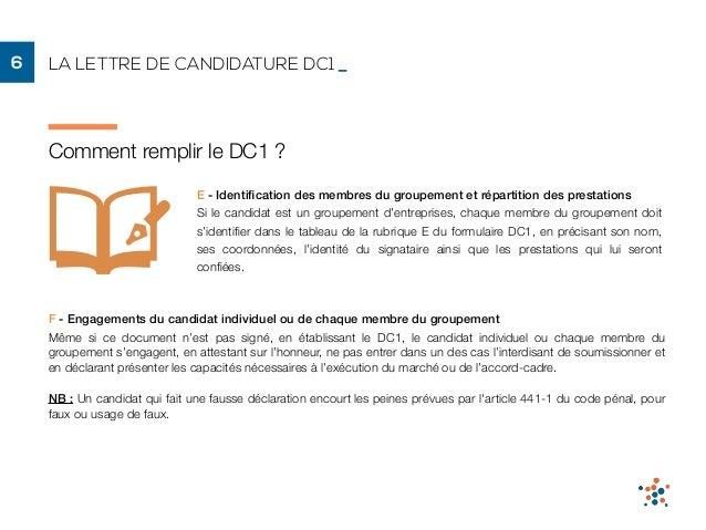 Lettre De Présentation Dc1 France Marchés