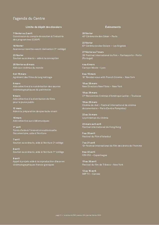 page 11 — la lettre du CNC numéro 120, janvier-février 2015page 11 — la lettre du CNC numéro 120, janvier-février 2015 Lim...