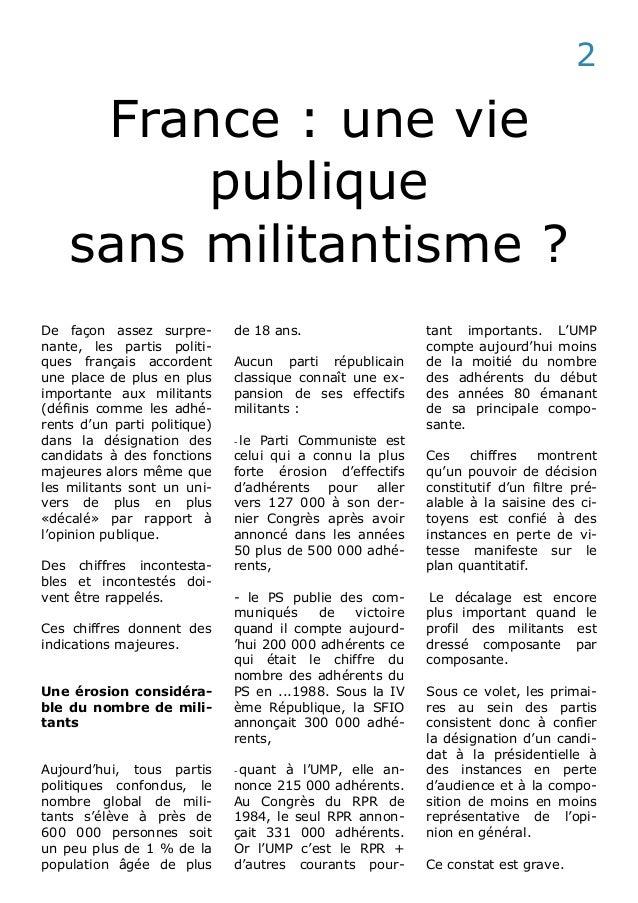 France :  la crise du militantisme Slide 2