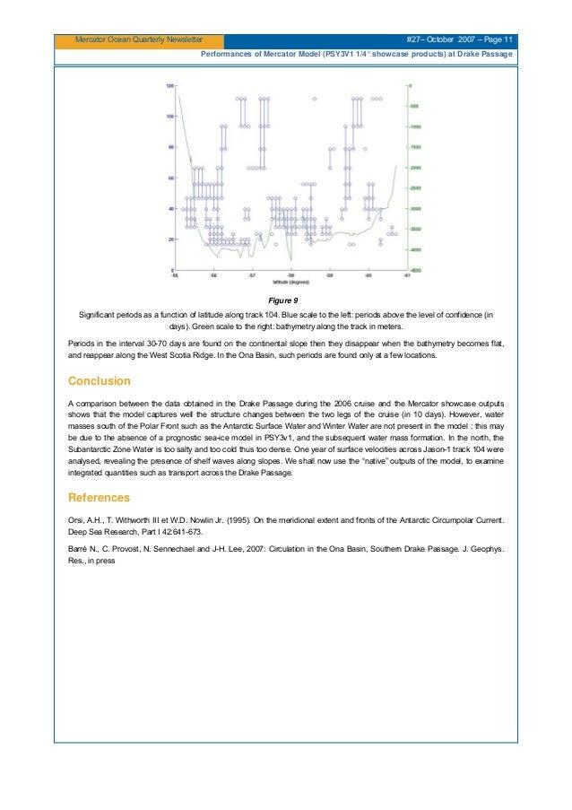 Mercator Ocean Quarterly Newsletter #27– October 2007 – Page 11 Performances of Mercator Model (PSY3V1 1/4° showcase produ...