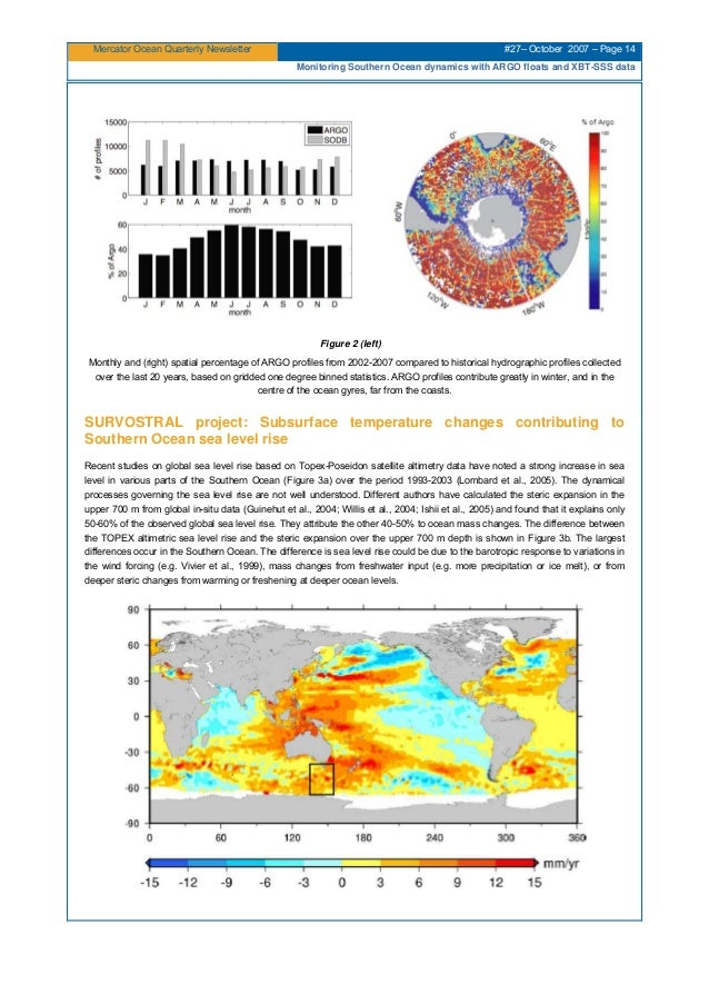 Mercator Ocean Quarterly Newsletter #27– October 2007 – Page 14 Monitoring Southern Ocean dynamics with ARGO floats and XB...
