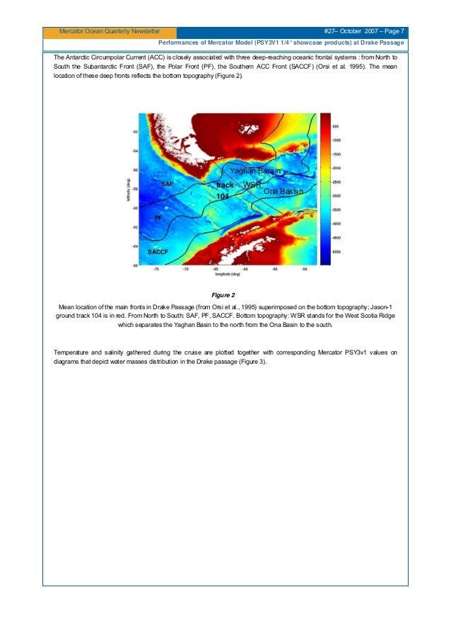 Mercator Ocean Quarterly Newsletter #27– October 2007 – Page 7 Performances of Mercator Model (PSY3V1 1/4° showcase produc...