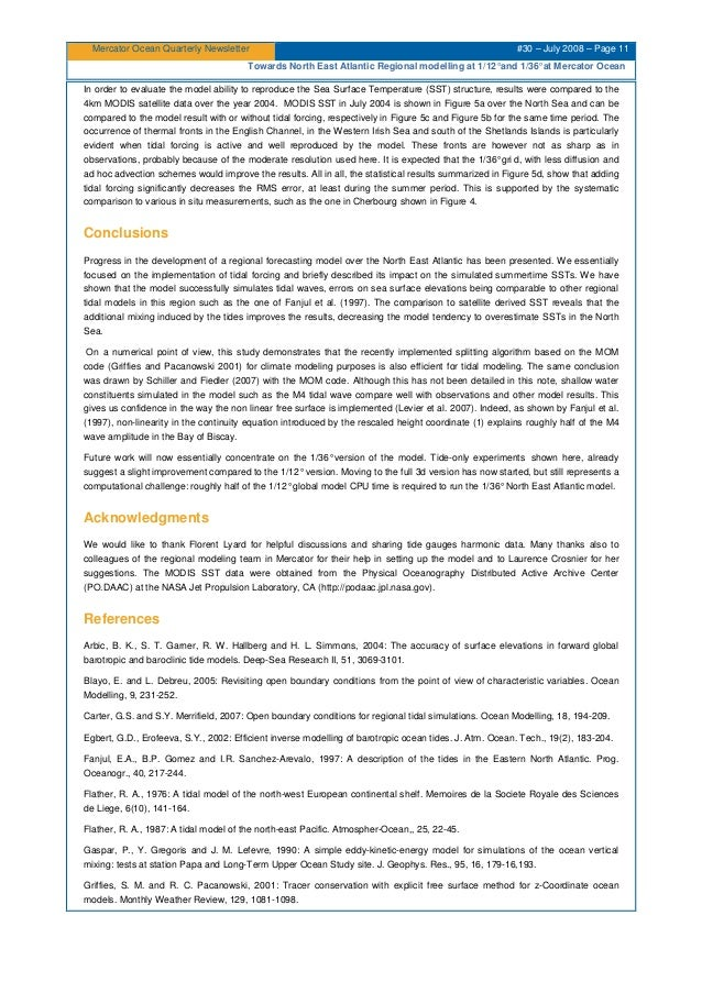 Mercator Ocean Quarterly Newsletter #30 – July 2008 – Page 11 Towards North East Atlantic Regional modelling at 1/12°and 1...