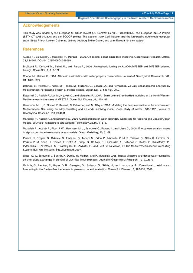 Mercator Ocean Quarterly Newsletter #30 – July 2008 – Page 19 Regional Operational Oceanography in the North Western Medit...