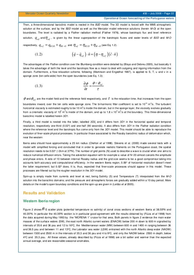 Mercator Ocean Quarterly Newsletter #30 – July 2008 – Page 22 Operational Ocean forecasting of the Portuguese waters Then,...