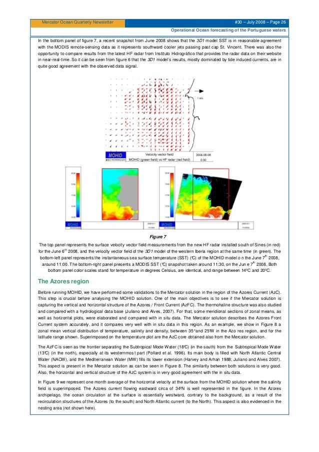 Mercator Ocean Quarterly Newsletter #30 – July 2008 – Page 26 Operational Ocean forecasting of the Portuguese waters In th...