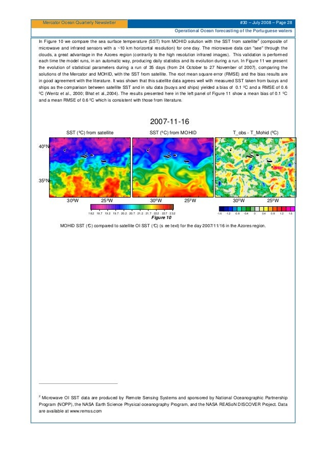 Mercator Ocean Quarterly Newsletter #30 – July 2008 – Page 28 Operational Ocean forecasting of the Portuguese waters In Fi...