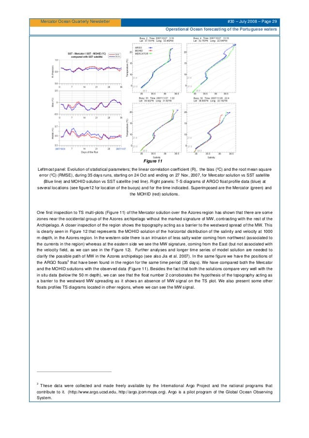 Mercator Ocean Quarterly Newsletter #30 – July 2008 – Page 29 Operational Ocean forecasting of the Portuguese waters Figur...