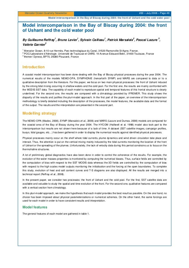 Mercator Ocean newsletter 30