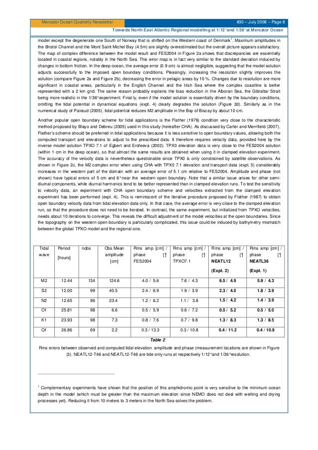Mercator Ocean Quarterly Newsletter #30 – July 2008 – Page 8 Towards North East Atlantic Regional modelling at 1/12°and 1/...