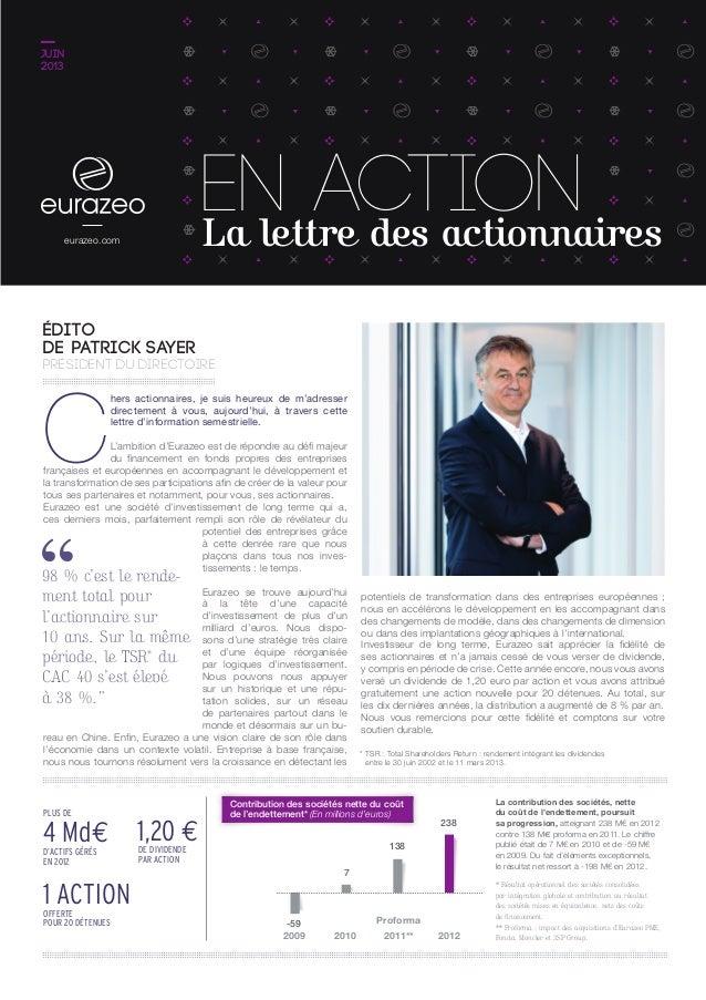 28 Août 2013 résultats 1er semestre 2013 AGENDA CONTACTS POUR EN SAVOIR PLUS Évolution du cours de Bourse au 20 mai 2013 (...