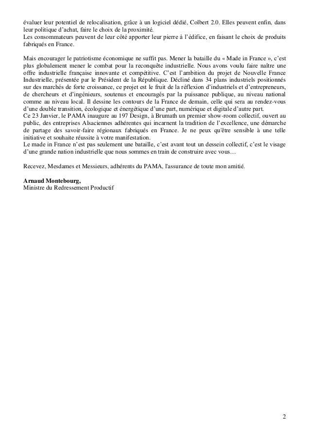 Lettre d'Arnaud Montebourg Slide 2