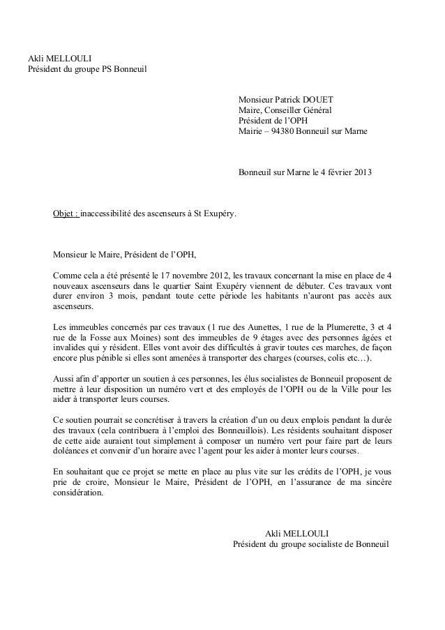Akli MELLOULIPrésident du groupe PS Bonneuil                                                             Monsieur Patrick ...