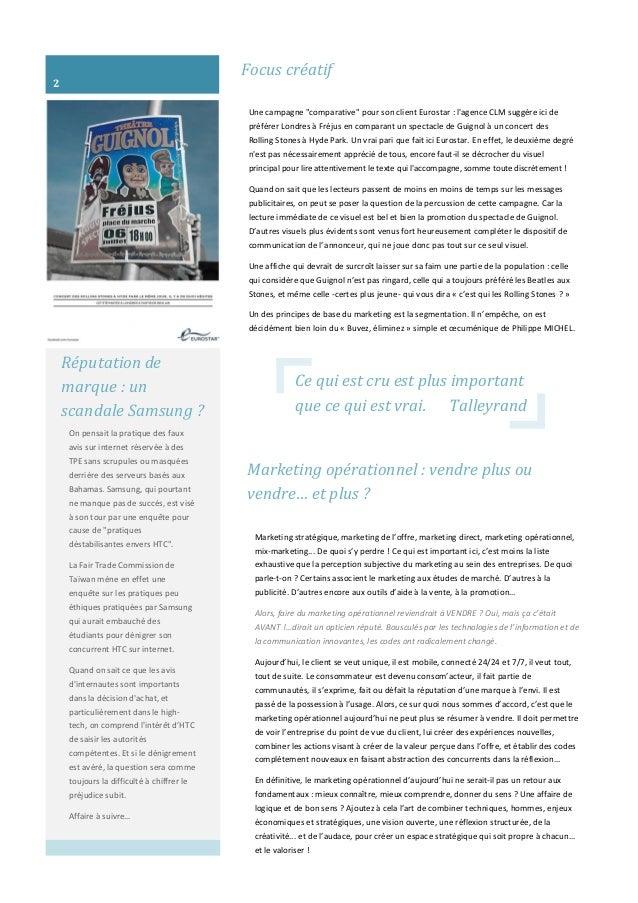 """Focus créatif Une campagne """"comparative"""" pour son client Eurostar : l'agence CLM suggère ici de préférer Londres à Fréjus ..."""