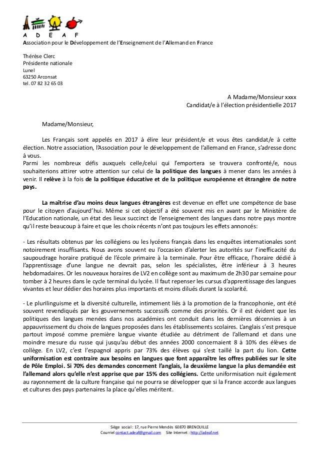 Siège social : 17, rue Pierre Mendès 60870 BRENOUILLE Courriel contact.adeaf@gmail.com Site Internet : http://adeaf.net A ...