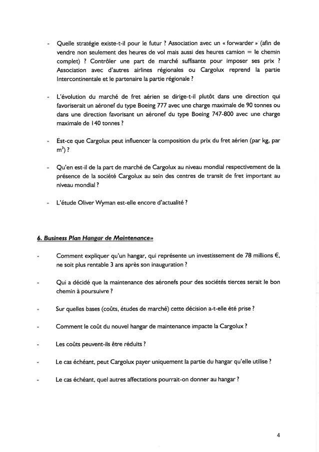 Lettre Catalogue De Questions Dossier Cargolux Luxair
