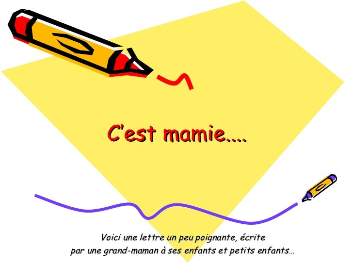 Lettre De Mamie