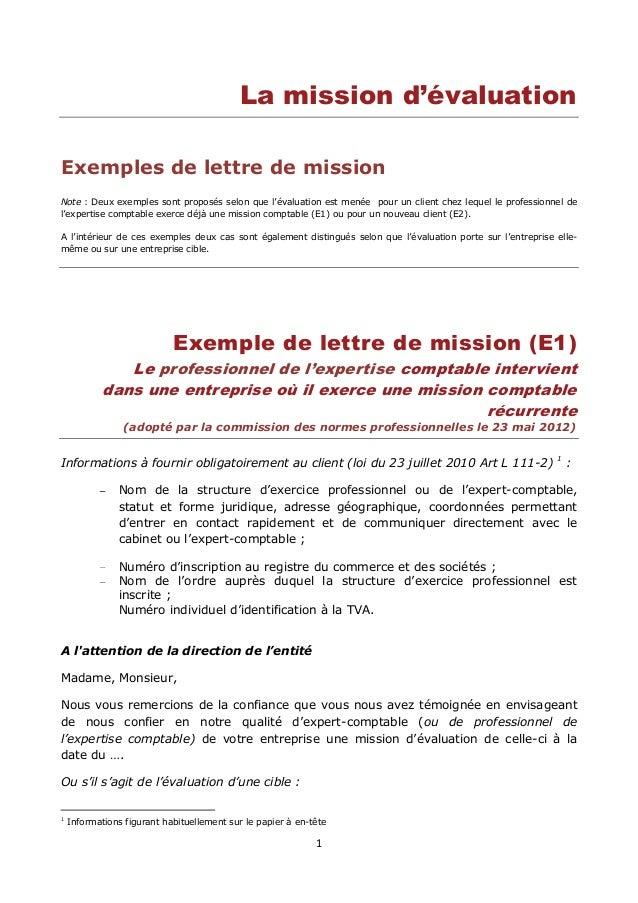 lettre de résiliation expert comptable Lettre de mission de l'expert comptable lettre de résiliation expert comptable