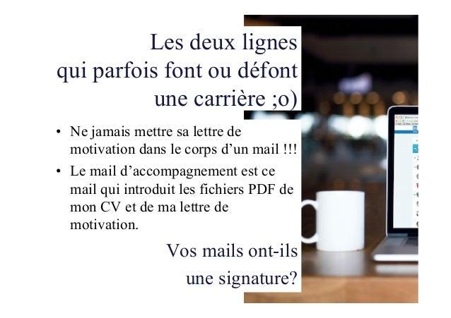 lettre de motivation et mail d u0026 39 accompagnement