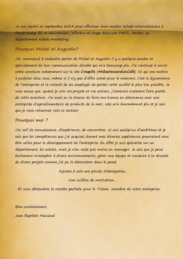 lettre de motivation pour master 2 architecture