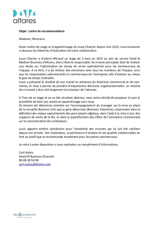 Reference Letter from Cyril AUBRY