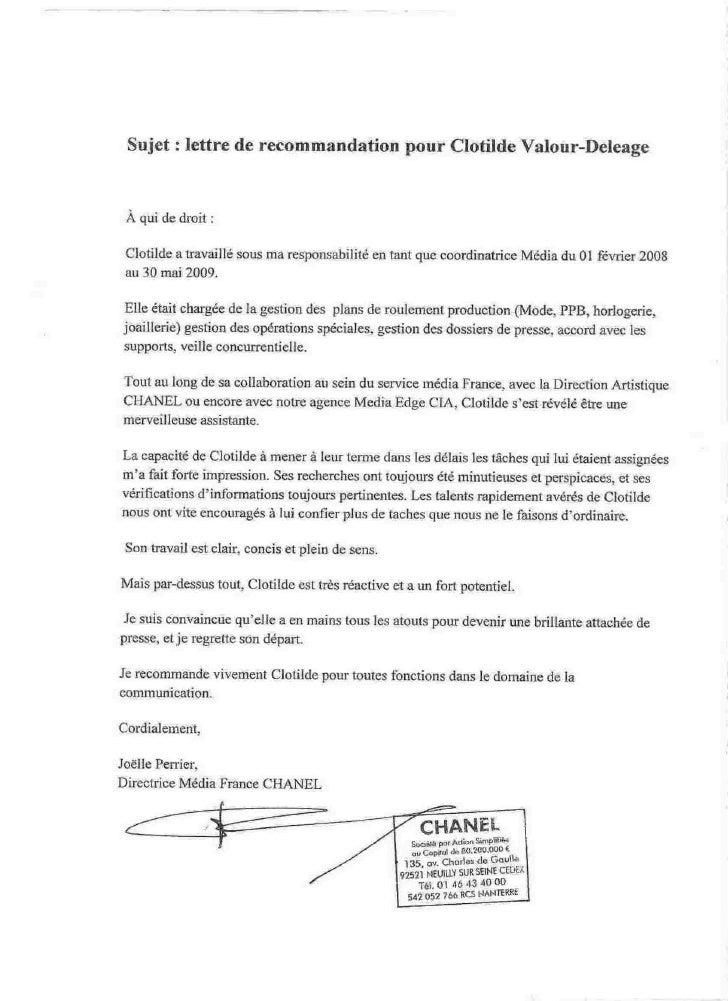 lettre de recommandation en français Lettre De Recommandation En Francais | koffiemetzorg lettre de recommandation en français