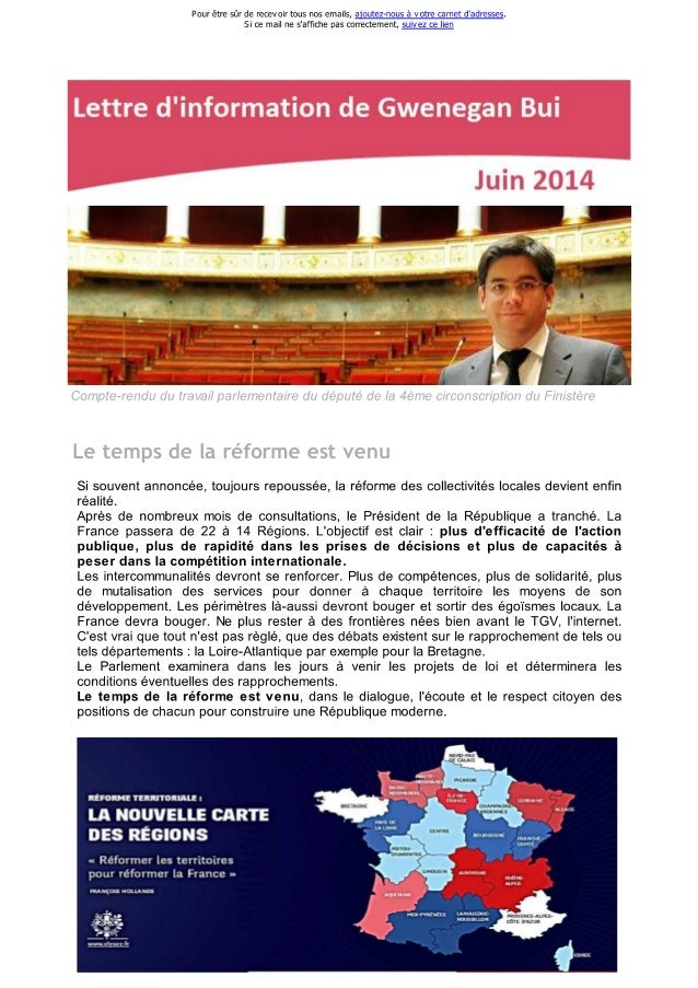 Lettre d'information de ...egan bui n°10 juin 2014