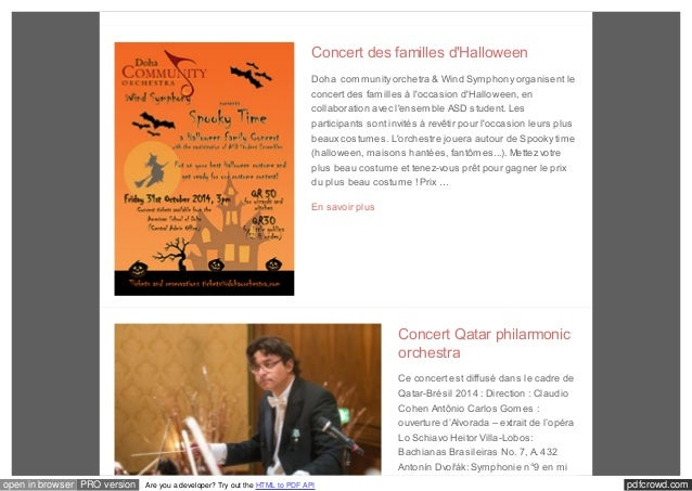 Concert des familles d'Halloween  Doha community orchetra & Wind Symphony organisent le  concert des familles à l'occasion...