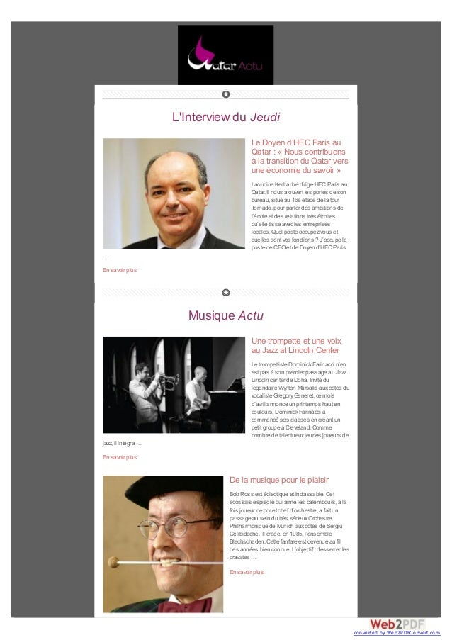 L'Interview du Jeudi Le Doyen d'HEC Paris au Qatar : « Nous contribuons à la transition du Qatar vers une économie du savo...