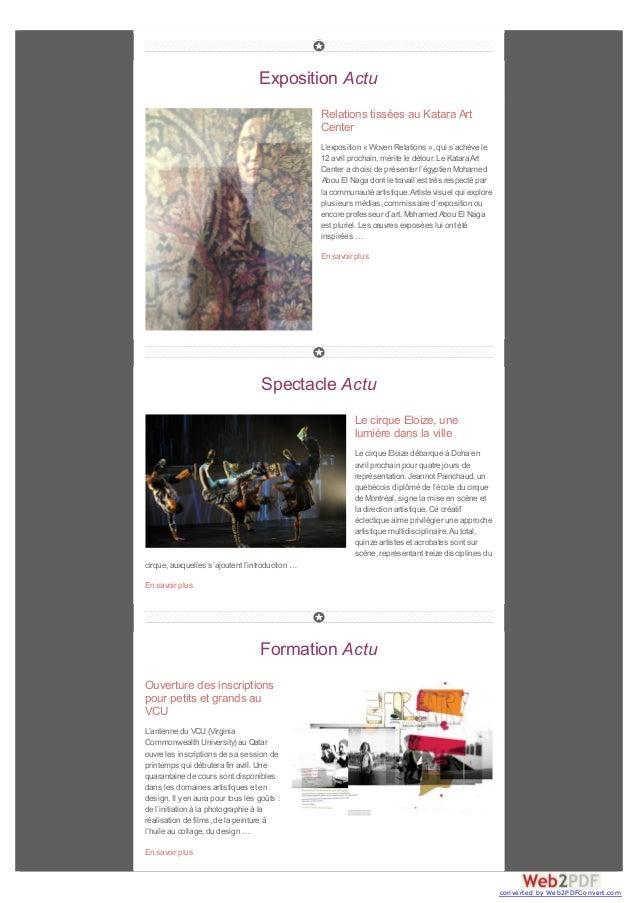 Exposition Actu Relations tissées au Katara Art Center L'exposition « Woven Relations », qui s'achève le 12 avril prochain...