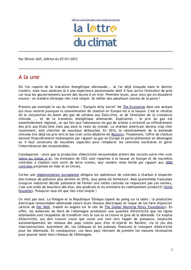 Afficher cette lettre dans votre navigateur internetPar Olivier GUY, édition du 07/01/2013A la uneOù lon reparle de la tra...
