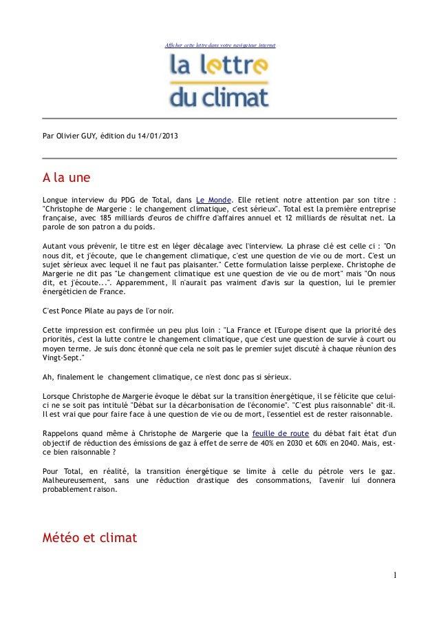 Afficher cette lettre dans votre navigateur internetPar Olivier GUY, édition du 14/01/2013A la uneLongue interview du PDG ...