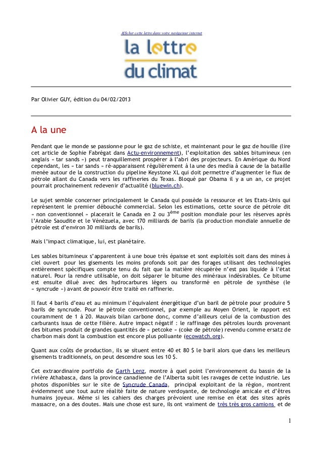 Afficher cette lettre dans votre navigateur internetPar Olivier GUY, édition du 04/02/2013A la unePendant que le monde se ...