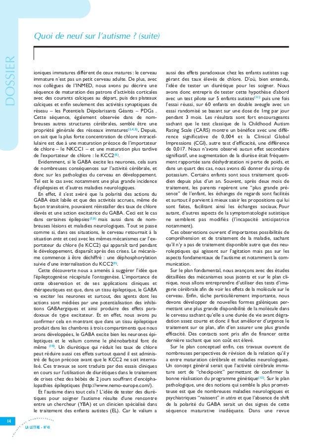 Let41 V8-7_Let25 28/11/11 15:54 Page14                                          Quoi de neuf sur l'autisme ? (suite) DOSSI...