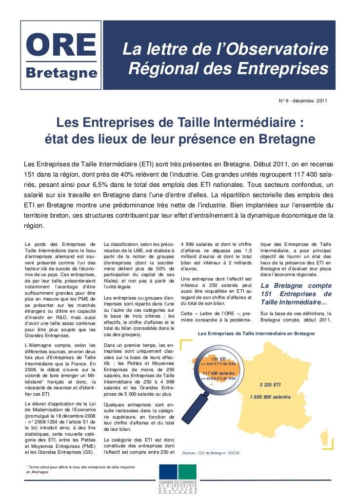 ORE                                                           La lettre de l'ObservatoireBretagne                         ...