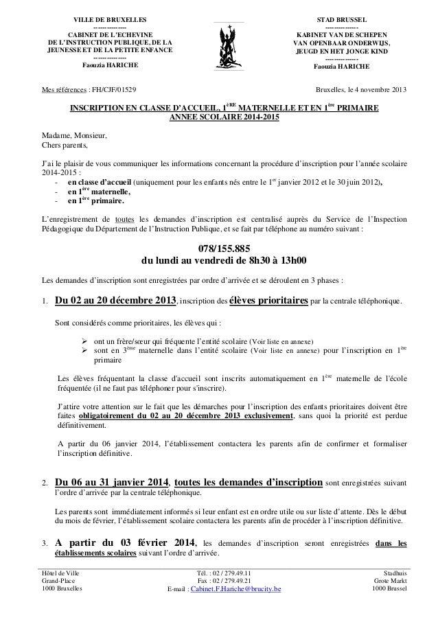 VILLE DE BRUXELLES --------------CABINET DE L'ECHEVINE DE L'INSTRUCTION PUBLIQUE, DE LA JEUNESSE ET DE LA PETITE ENFANCE -...