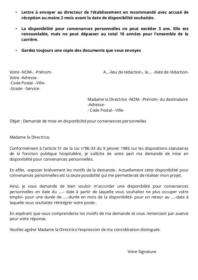 lettre type disponibilit u00e9 fph