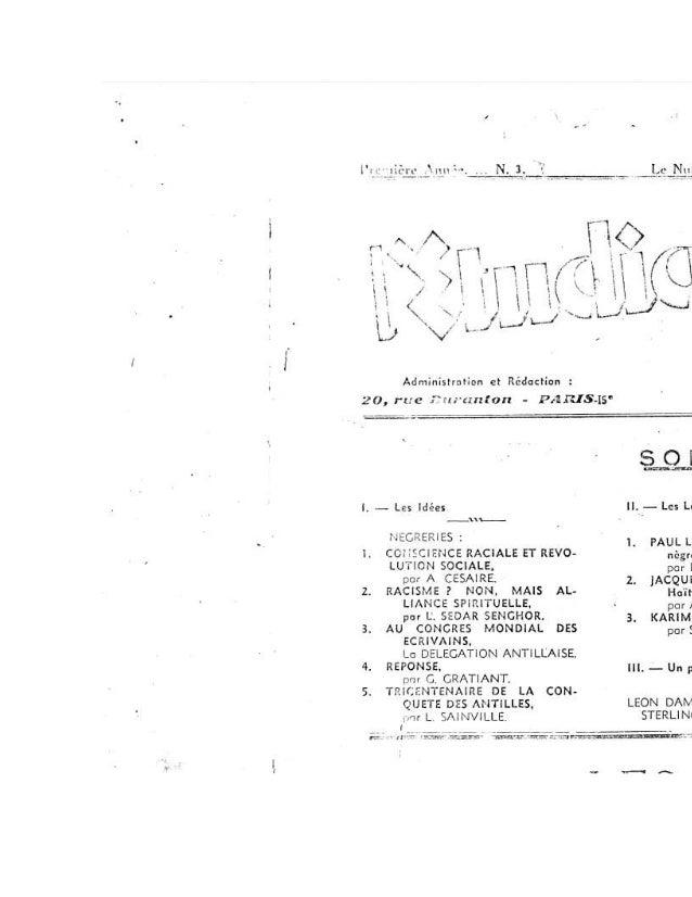 l'Etudiant Noir  Mai-Juin 1935