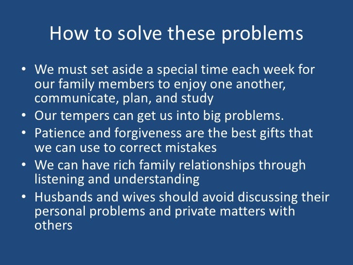 how to solve family problem