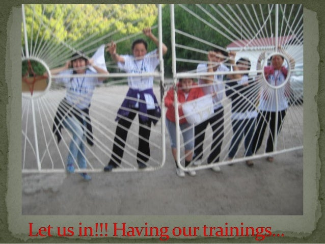 Our training started!