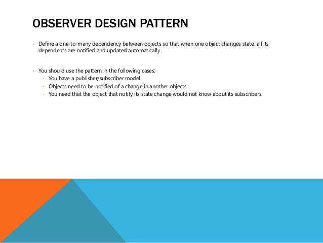 Why Not To Use Observer Design Pattern